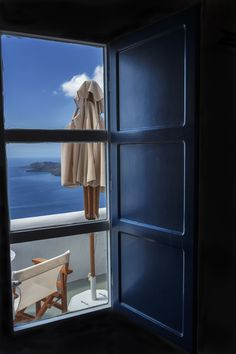 Santorini through the window