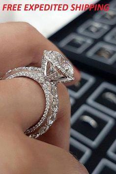 Carat White Gold Antique/Vintage Bezel Set Designer Princess Cut Diamond Engagement Ring With Milgrain Ct H Color Clarity Center Stone) – Fine Jewelry & Collectibles Beautiful Wedding Rings, Gold Wedding Rings, Wedding Rings For Women, Wedding Jewelry, Trendy Wedding, Wedding Bands, Bridal Rings, Bling Wedding, Beautiful Beautiful
