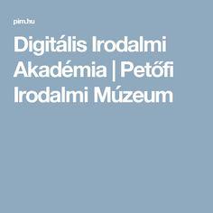 Digitális Irodalmi Akadémia | Petőfi Irodalmi Múzeum