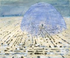 """Everyone Stands Under His Own Dome of Heaven""   Artist: Anselm Kiefer (German, born Donaueschingen, 1945) Date: 1970 Medium: Watercolor, gouache, and graphite on joined paper Dimensions: 15 3/4 x 18 7/8in. (40 x 47.9cm) Classification: Drawings Credit Line: Denise and Andrew Saul Fund, 1995 Accession Number: 1995.14.4"