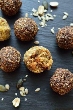 Daktylowe kulki mocy - Planeta Smaku Healthy Cake, Tahini, Muffin, Cookies, Chocolate, Breakfast, Food, Crack Crackers, Biscuits