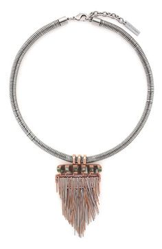 Vince Camuto 'Silver Springs' Fringe Pendant Necklace available at #Nordstrom