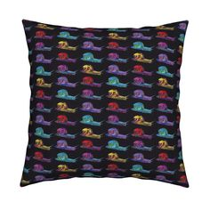 Catalan Throw Pillow featuring SNAILS PROCESSION Black by paysmage   Roostery…