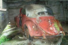 Karmann 15-10351 Rusty Metal, Barn Finds, Vw Beetles, Restoration, Car, Sweden, Convertible, Vintage, Facebook