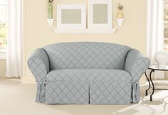 Sure Fit Loveseat Slipcovers Sure Fit Slipcovers, Loveseat Slipcovers, Couch Set, Loveseat Sofa, Sleeper Sofa, Furniture Covers, Sofa Furniture, Curved Couch, Microfiber Sofa