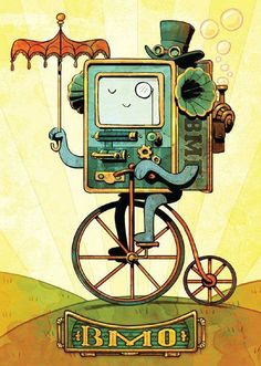 BMO de Hora de Aventuras al Steampunk. Remixeo y reapropiación retrofuturista de imaginería pop