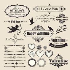 Valentine Design Elements ( Vector )