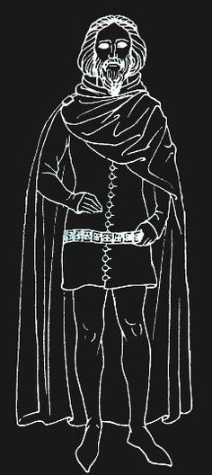 The cloak is as pervasive a garment throughout the Middle Ages as any featured in this series. Cloaks have existed, in one form or another, for as long as man has been wearing clothing. When prehistoric man first wrapped himself in an animal's fur to ward off the evening chill, he was wearing a rudimentary cloak.