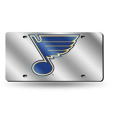 NHL St. Louis Blues Laser License Plate Tag - Silver