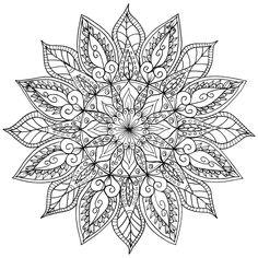 Floral Mandala by WelshPixie.deviantart.com on @DeviantArt