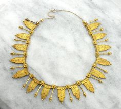Amazing Etruscan Revival Gothic Necklace Statement by MSJewelers
