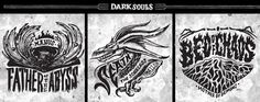 Dark Souls Emblem Collection on Behance Ornstein Dark Souls, Soul Saga, Soul Tattoo, Behance, Fan Art, Anime, Tattoo Ideas, Collection, Tattos
