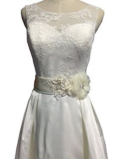 09f0876a3f8 Organza flowers with appliques wedding sash (Navy) at Amazon Women s  Clothing store