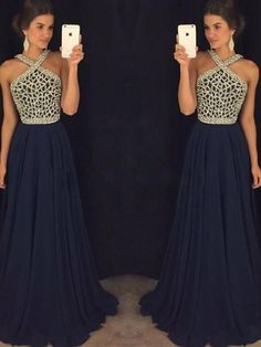 Sparkly Prom Dress, New Arrival pink dark blue beaded long prom dress for teens, dark blue formal dress, These 2020 prom dresses include everything from sophisticated long prom gowns to short party dresses for prom. Navy Blue Prom Dress Long, Dresses Elegant, Royal Blue Prom Dresses, Prom Dresses For Teens, Blue Evening Dresses, Long Prom Gowns, A Line Prom Dresses, Prom Party Dresses, Party Gowns