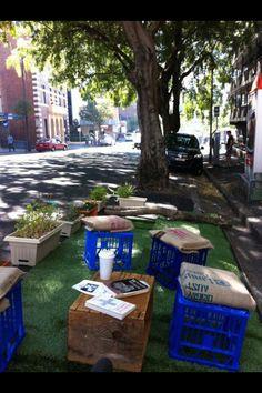 temporary street garden in Melbourne