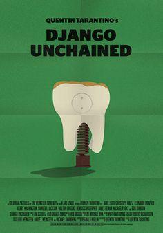 Django Unchained (2012) ~ Minimal Movie Poster by Stefano Pellegrini ~ Tarantino Series #amusementphile