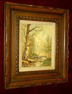 Original Realism Vintage Landscape Oil Painting by ArtDelightful