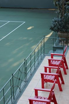 Tennis viewing terrace