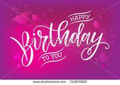 Happy Birthday Design Vector ~ Vector illustration.happy birthday to you typography vector design