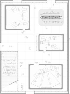 Imagen 17 de 18 de la galería de Blockbuster: Cine itinerante para exhibiciones / Work!. planta Floor Plans, Diagram, Bullet Journal, Industrial, Movies, Plants, Industrial Music