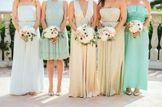 bridal party...touch of teal!