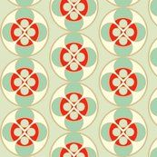 Spoonflower - Seafoam and red button by Holli-zollinger - for living room pillows?