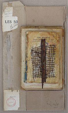 Livres mémoire Empilement - Gabriel LaLonde - Techniques mixtes sur formes de livres recyclées 2012