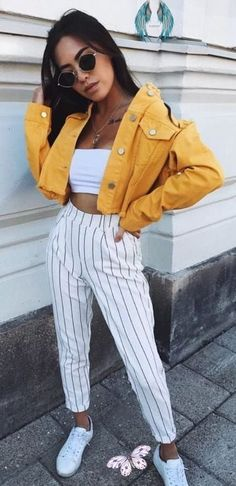 Über 25 Sommeroutfits zum Anziehen  <br> Cute Dress Outfits, Moda Outfits, Best Casual Outfits, Simple Summer Outfits, Sporty Outfits, Summer Fashion Outfits, Classy Outfits, Overalls Outfit, Spring Outfits