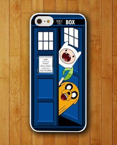 Jack and Fin Tardis Box Adventure Time Case for Apple iPhone 4 4s 5 5s 5c 6 6s plus Mobile Cover 2015