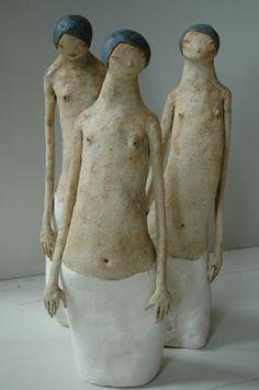 'Kvinne med langt liv' (Woman with long life) by Norwegian sculptor Maria Øverbye. via the artist's site