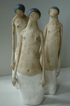 'Kvinne med langt liv' (Woman with long life) by Norwegian sculptor Maria Øverbye. via the artist's site
