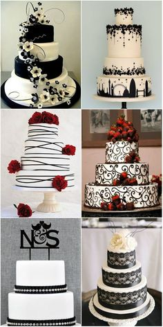 simply-elegant-black-and-white-wedding-cakes.jpg (600×1200)