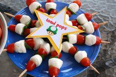 Super Mario Party - Toad Pops (Mozzarella, Tomato and Basil)