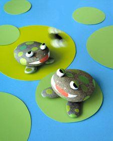 Keien van Kikkers! Of kikkers van keien? Leuk om samen met de kinderen te knutselen! DIY