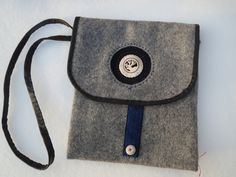 shoulder bag with decorated reindeer horn by ArcticLightCrafts on Etsy