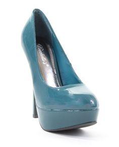 Amazon.com: Patent Round Toe Stiletto Platform Pump Nikki-02: Shoes