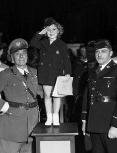 Shirley Temple visits the Hollywood American Legion, 1936.