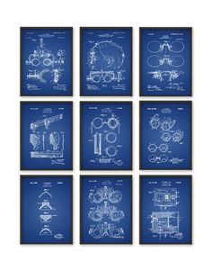 Optometry Patent Print Set Of 9 Optometrist by QuantumPrints