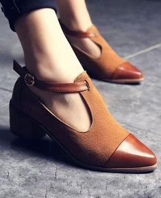 2017 new strap high heel shoes women ankle pumps high-heel pointed toe women shoes leather sandals ladies shoes sapato feminino Oxford Shoes Outfit, Women Oxford Shoes, New Shoes, Casual Shoes, Shoes Women, Shoes 2016, Women Sandals, Women's Casual, Casual Wear