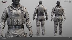 ArtStation - Arkham Knight - GCPD SWAT costume, Meng Guan