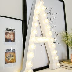 diy home sweet home: DIY Letter My daughter has always wanted her initial up in lights.