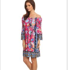 Coming soon. On/off shoulder dress. Made in the USA. Fits a size 6-8. Firm unless bundled. StylesbyS Dresses