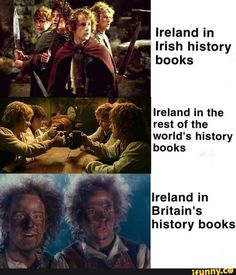 Ireland in Irish history books Ireland in the rest of the world's history books Ireland in Britain's history books - iFunny :) World History Book, World History Facts, World History Classroom, History Jokes, World History Lessons, History Timeline, History Projects, History Photos, Irish Memes