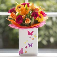 Bright Rose & Lily Bag
