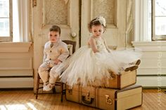 Ivory Vintage flower girl tutu dress