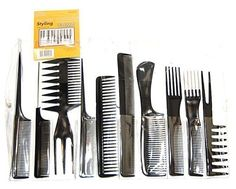 Cool88 Magic 10 Pieces Black Professional Styling Comb Set ** This is an Amazon Affiliate link. You can find out more details at the link of the image.