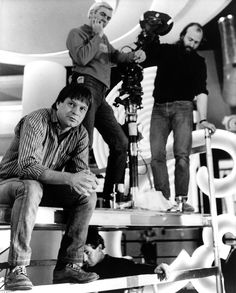 """Terry Gilliam on the set of """"Brazil"""""""