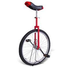 "24"" Butyl Tire Chrome Unicycle Wheel Cycling W/ Stand Mountain Exercise Bike Red by Generic. $65.99. Features:  * 24"" wheel * Eye-catching bright red * Rational designed according to somatology and movement features * Cotterless steel crank * Smooth riding wheel bearing * Large saddle in unique design for extra comfort & safety * Removable poly-nylon guarded rails on the seat * Steel fork with chrome plated * Full-sized nylon pedals with chromoly spindles * Extra w..."