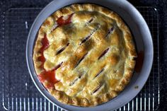 strawberry-rhubarb pie by smitten kitchen, via Flickr- made this today with GF pie crust by GF Girl and it was delicious!!