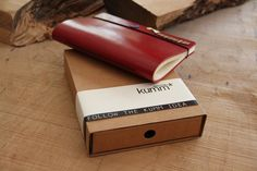 hand made sketchbook by kumm design , Leather cover...Kumm Town series.